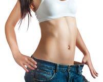 Sexiga kvinna torso. isolerat på vit Royaltyfria Bilder