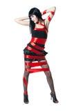 sexiga kvinnor för svart klänning Royaltyfri Foto