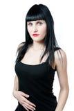 sexiga kvinnor för svart klänning Arkivfoton