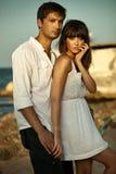 Sexiga par på semester Royaltyfria Foton