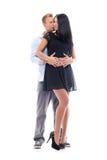 Sexiga par som har en fotoperiod i studio Royaltyfri Foto