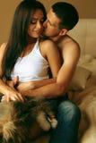 Sexiga passionerade par Royaltyfria Bilder