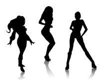sexiga silhouettes Arkivfoto