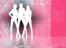 sexiga silhouettes Fotografering för Bildbyråer