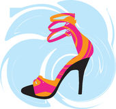 sexiga skor för illustration Stock Illustrationer