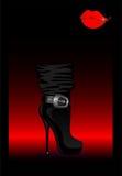 sexiga skor för kvinnlig Royaltyfria Bilder