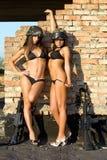 sexiga två kvinnor Fotografering för Bildbyråer