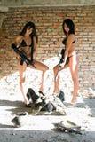 sexiga två kvinnor Royaltyfri Fotografi
