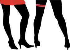 sexiga womans för ben Arkivfoton