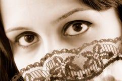 sexigt ögonkast Fotografering för Bildbyråer
