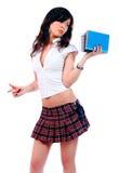 sexigt barn för attraktiv schoolgirl Arkivfoto