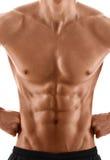 Sexigt förkroppsliga av muskulös man Fotografering för Bildbyråer