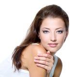 sexigt kvinnabarn för härlig framsida Arkivfoton
