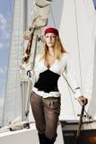 sexigt kvinnabarn för pirat Arkivfoton