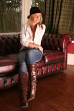 sexigt läder Royaltyfria Bilder