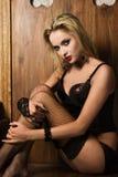 sexigt spela vamp kvinnan Royaltyfri Fotografi