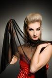 sexigt spela vamp kvinnan Royaltyfria Foton