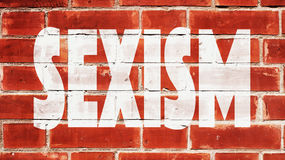 Sexism Written On A Brick Wall. Sexism On A Brick Wall Royalty Free Stock Photography
