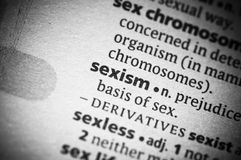 Sexismo Imagem de Stock
