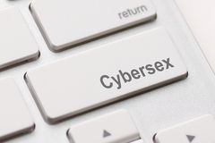 Sexknopf auf Tastatur Stockfotografie