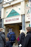 Sexmuseum in Amsterdam stock photography