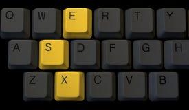 Sexo no teclado Imagens de Stock Royalty Free