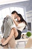 Sexo quente do escritório Fotografia de Stock
