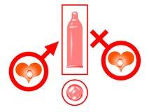 Sexo seguro ilustração royalty free
