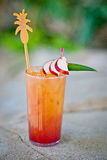Sexo tropical alcoólico de refrescamento do cocktail na praia fotografia de stock