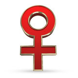 Kvinnligt könsbestämma symbolet 3D royaltyfri illustrationer