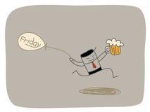 Sexta-feira feliz ilustração do vetor