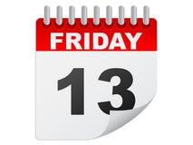 Sexta-feira o 1ó calendário Fotos de Stock Royalty Free