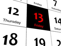 Sexta-feira preta 13 Fotografia de Stock