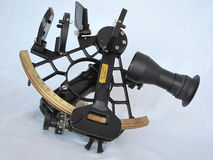 Sextant. A big black sextant for navigation orientation isolated on white background Stock Photography