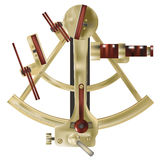 Sextant antique marine maritime tool vector Royalty Free Stock Images