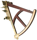 Sextant cutout. Old handy sextant isolated with clipping path Royalty Free Stock Images