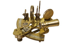 Sextant isolated on white background Royalty Free Stock Photography