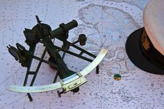 Sextant on a Nautical Chart - 2860 stock images