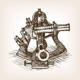 Sextant sketch style vector illustration Royalty Free Stock Photo