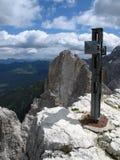 Sexten dolomite: Oberbachernspitze Royalty Free Stock Photo