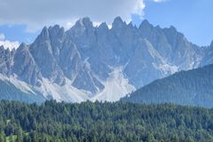The Sexten Dolomites of Alpine Southern Tyrol, Italy Stock Image