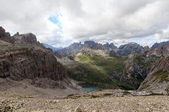 Sexten Dolomites mountain panorama, South Tyrol Stock Images
