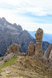 Sexten Dolomites mountain rock pinnacle needle in South Tyrol Stock Images