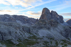 Sexten Dolomites mountain Zwolferkofel and footpath in South Tyrol Stock Photography