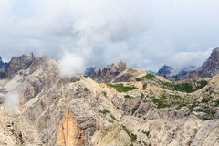 Sexten Dolomites panorama with mountain Paternkofel in South Tyrol Stock Photos