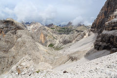 Sexten Dolomites panorama with mountain Paternkofel in South Tyrol Royalty Free Stock Photos