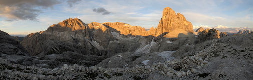 Sexten Dolomites; Zwoelferkofel Stock Photo