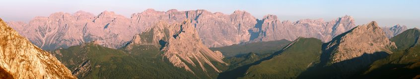 Sextener Dolomiten lub Dolomiti Di Sesto Zdjęcia Royalty Free