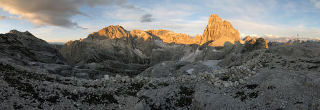 Sextener dolomites: Zwoelferkofel Royalty Free Stock Photos