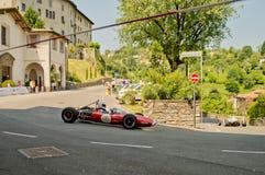 Sextioformelbilar på Bergamo den historiska granda prixen 2017 Fotografering för Bildbyråer